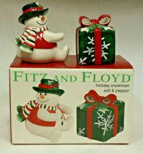 Set Fitz and Floyd Holiday Tidings Salt /& Pepper 2-Pc