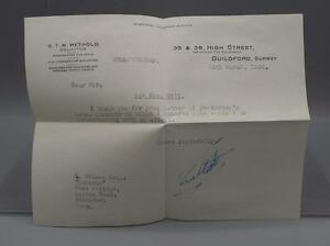 Vintage Telegram from Solicitor 1954 Great Britain