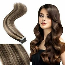 Tape In Seamlees Straight Remy Human Hair Extensions Fashion luxurious 16-22