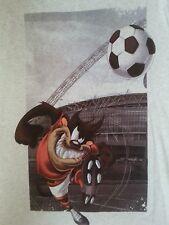 LOONEY TUNES - Taz Tasmanian Devil Mens T-Shirt Large George White Grey Tee