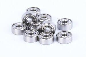1/8x3/8 Bearing Stainless 10pc R2 Bearing 1/8x3/8x5/32 Fishing Reel Bearings