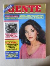 GENTE n°51 1981 Ornella Muti Paul Getty Natalie Wood  [G773]