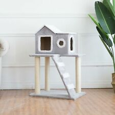 New listing Cat Tree Condo Tower Pet Furniture with Scratching Posts for Kittens Gray