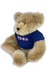 Harrods Brown Bear Blue Short Sleeves London Shirt 12 Inch Length