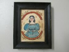 MINIATURE ANTIQUE AMERICANA WATERCOLOR? PAINTING IN GOOD CONDITION