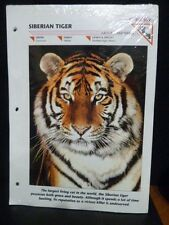 WILDLIFE FACT FILE - 12 FILES SEALED (FRONT SIBERIAN TIGER) BACK (ELEPHANT) -NEW