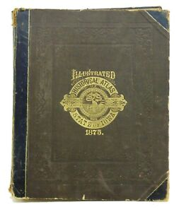 Antique Bound Book Andreas Illustrated Historical Atlas Maps State of Iowa 1875