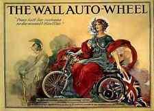 165 The Wall Auto Wheel Vintage Photo Print A4