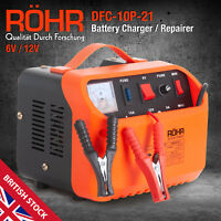 Röhr Car Battery Charger 6V / 12V Smart Pulse Repair Portable Leisure Automobile