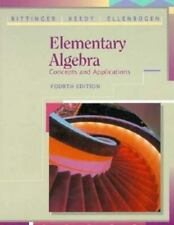 Elementary Algebra : Concepts and Applications by Marvin L. Bittinger (1993,...
