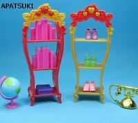 2pcs/lot Doll Furniture Playhouse Shoes Rack For Barbie Dollhouse Storage Racks