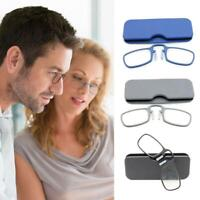 Mini Nose Clip Optics Reading Glasses Clear Lens Men Women Eyeglass 1.5/2.0/2.5