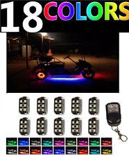 Custom Led Golf Cart Lighting UnderGlow Neon Lights 10 POD Kit For EZGO ClubCar