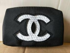 """CHANEL Beauty White Sequin Logo Handhold Coin Bag Wallet Purse NEW """"POST FREE"""""""