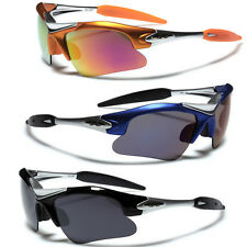 c95a4659ba Half Frame Men Sports Wrap Around Cycling Sunglasses Baseball Driving  Glasses