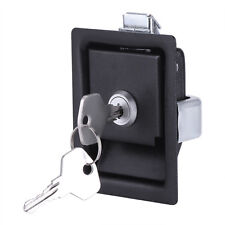 Safety Paddle Entry Door Lock Latch Handle Knob Deadbolt Camper Trailer+Key Pro
