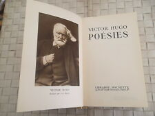 VICTOR HUGO POESIES EDITION HACHETTE 1950