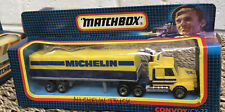 Matchbox Convoy Scania T142 Lorry Truck and Trailer Michelin With Box