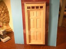 DOLLHOUSE MINIATURE ONE INCH SCALE CLASSIC SIX PANEL DOOR WITH LITES