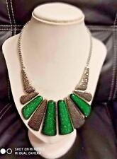 New Elegant Women  Choker Statement  Necklace  Typical Green Fashion Chain