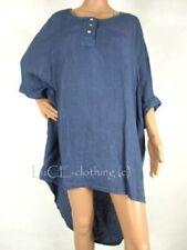Maglie e camicie da donna maniche a pipistrello senza marca in lino