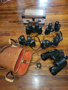 5 SUNSCOPE BINOCULARS 7X50 71 degrees Field with Leather Case Bushnell mega lot