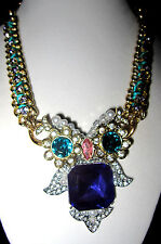 ]BETSEY JOHNSON CRITTERS LARGE OWL STATEMENT NECKLACE