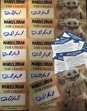 Baby Yoda The Child Signed David Acord 3x7 Plaque And Stand Beckett COA