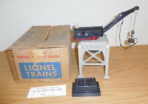 LIONEL POSTWAR #282 PORTAL GANTRY CRANE BOXED O GAUGE OPERATING TRAIN ACCESSORY