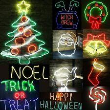 LED Schild Leuchtreklame Neon Nachtlicht Stopper Weihnachten Halloween MK