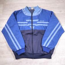 Mens Adidas Vintage 1990s Blue Cotton Tracksuit Top Bomber Jacket D9 XL #D4945