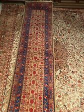 Tapis d'Orient chemin de couloir galerie laine entièrement réalisé main 304 x 72