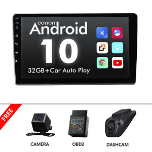 """CAM+OBD+DVR+Single DIN 10.1"""" Touch Screen Android 10 Car Stereo Radio GPS WiFi"""