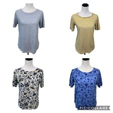 Loft T Shirts Lot of 4 Size M Short Sleeve Vintage Soft Tees Striped Floral Tops