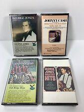 Johnny Cash, The Oak Ridge Boys, George Jones Cassette Lot
