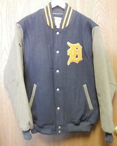 Majestic Authentic MLB Detroit Tigers Wool Jacket Size LARGE EX Condition