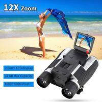5M 2inch LCD 16GB Digital Camera with Binocular 12X Zoom Video Photo Recorder