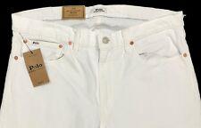 Men's POLO RALPH LAUREN White Denim Jean Pants 36x32 NWT Sullivan Slim Stretch