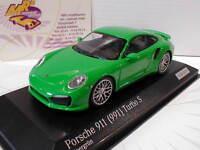 Minichamps CA04316061 # Porsche 911 (991) Turbo S Baujahr 2013 vipergrün 1:43
