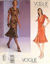 Vogue Coture Dress Pattern V2782 - NEW - Sizes 6,8,10 below knee, short sleeve