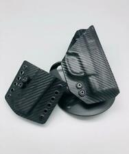 CZ P10 C Black Carbon Fiber Kydex OWB Holster w/ Paddle Clip & MAG POUCH US Made