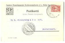 Finland under Russia Suomen Osuuskauppojen Official PC Oulu - Yakobshtadt 1917