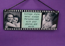 Personalised Metal Photo Hanging Plaque Vintage Style Frame Best Friends Gift