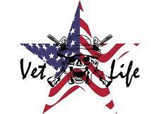 Vet*Life window decals,veteran,truck window,new
