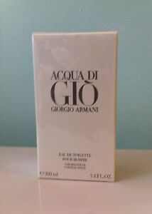 Aqua Acqua Di Gio Eau de Toilette EDT 3.3 - 3.4 by Giorgio Armani Men NIB SEALED