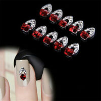 10Pcs 3D Rhinestone Crystal Alloy DIY Decoration Tips Nail Art Sticker FREE SHIP