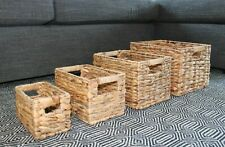 Nested Water Hyacinth Wicker Baskets (Set of 4) by Handcrafted 4 Home