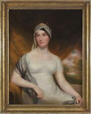 Follower Sir Thomas Lawrence Large Huge Antique 18thC Oil Painting Portrait Lady