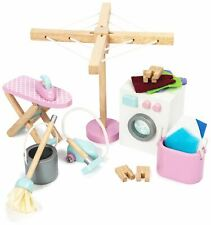 Le Toy Van DOLL HOUSE LAUNDRY ROOM SET Wooden Toy BNIP