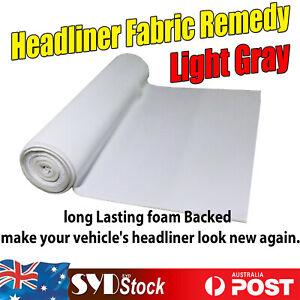 3.6Mx1.5M Light Gray Vehicle SUV Headliner Roof Liner Upholstery Fabric Refinish
